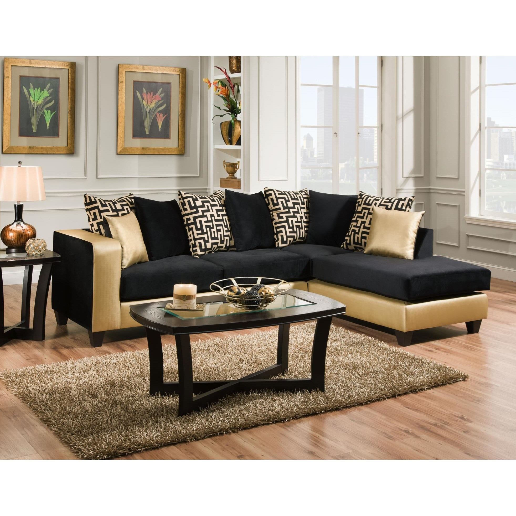 Beau Delta Furniture Manufacturing 4124Sectional Sofa