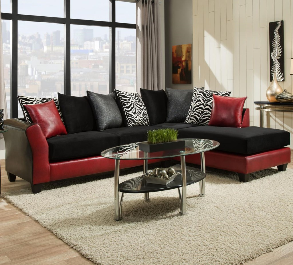 4174 transitional sectional with chaise and flared arms by delta furniture manufacturing