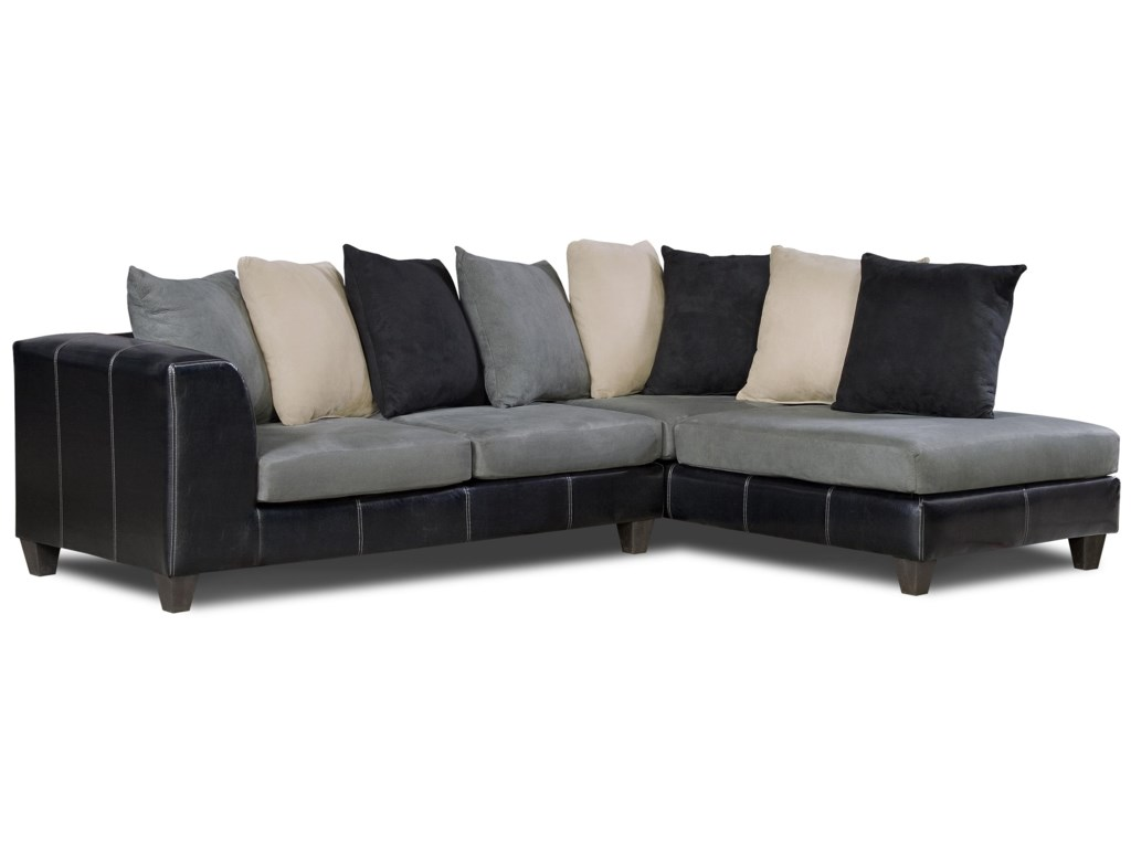 Delta Furniture Manufacturing 830 Contemporary Sectional Sofa ...