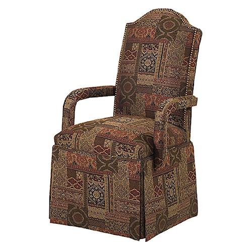 Designmaster Chairs  Chandler Nail Head Trim Skirted Arm Chair
