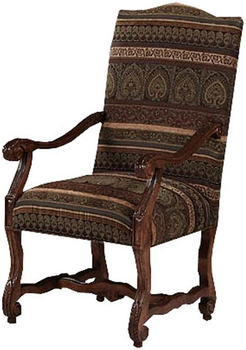 Designmaster Chairs  Strasbourg Carved Arm Chair