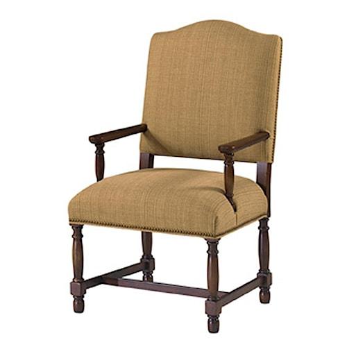 Designmaster Chairs  Hollister 'H' Stretcher Arm Chair