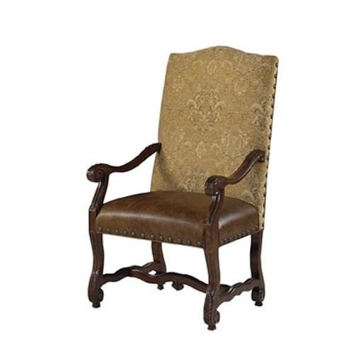 Designmaster Chairs  Luxemberg Overscaled Carved Arm Chair