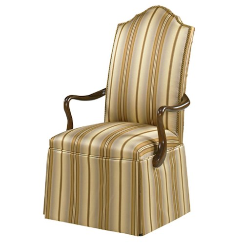 Designmaster Chairs  Georgetown Overscaled Nail head Trim Skirted Arm Chair