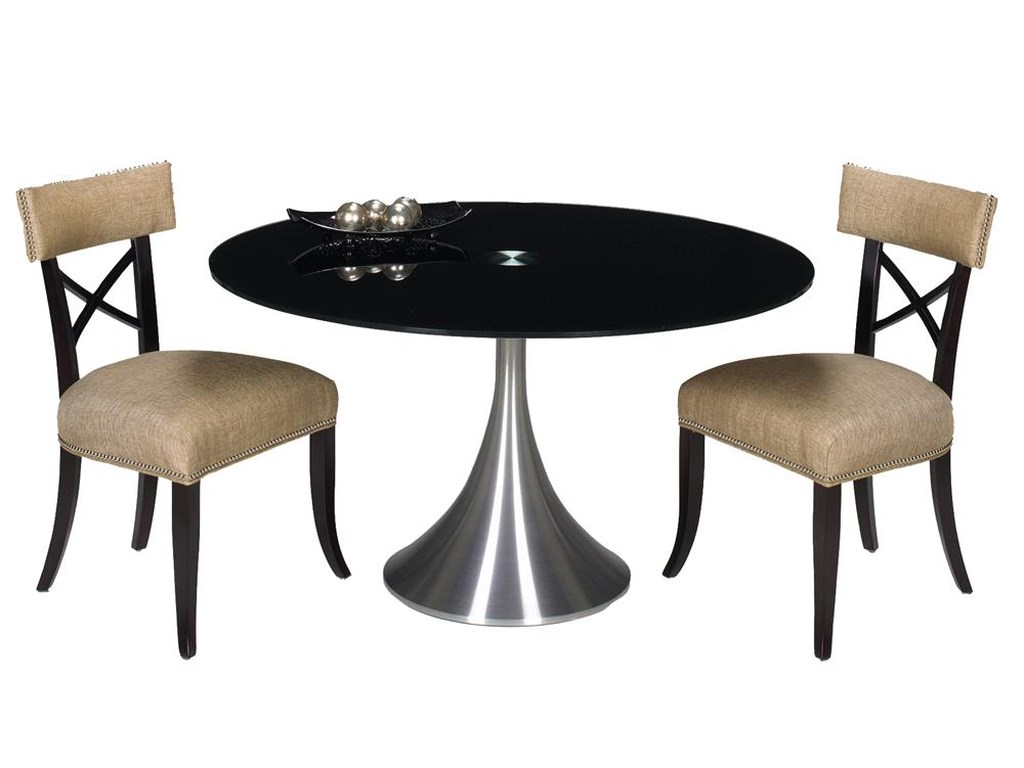 Designmaster TablesDel Mar Table with Black Glass Top