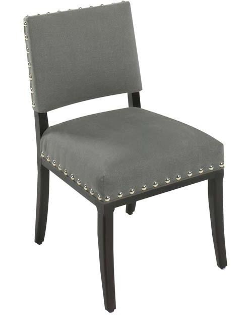 Designmaster Chairs Saxton Contemporary Dining Side Chair With Open Back  And Nail Head