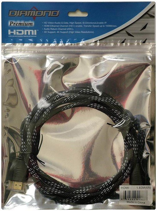 Diamond HDMI Cables 6FT Premium HDMI Cable