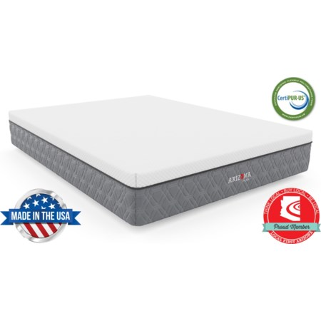"""King 11"""" Firm Hybrid Bed-in-a-Box Mattress"""