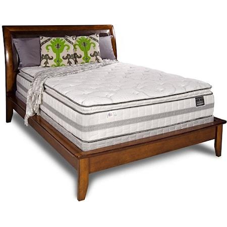 """Queen 14"""" Plush Pillow Top Mattress Set"""