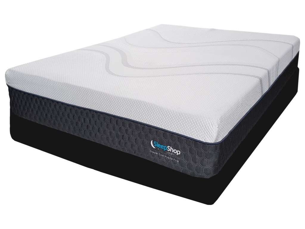 Diamond Mattress Copper Cool Hybrid MediumQueen Hybrid Cooling Med Firm Mattress Set