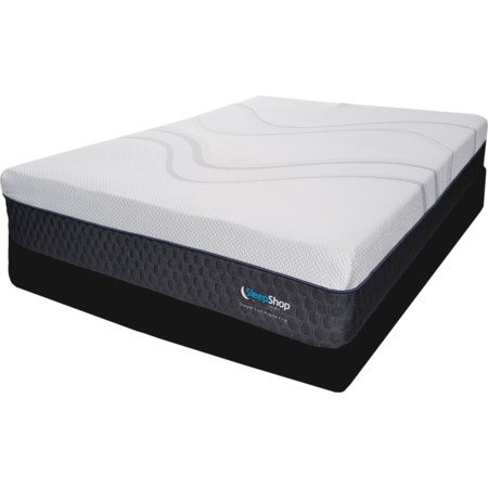 Queen Hybrid Cooling Plush Low Profile Set