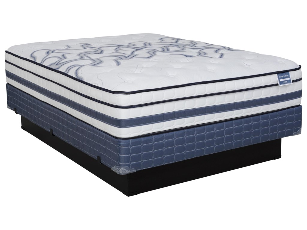 Diamond Mattress Dream Holiday Euro TopCal King Med. Firm Euro Top Mattress Set