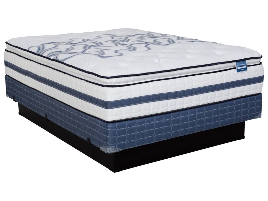 Diamond Mattress Dream Holiday Pillow TopTwin Plush Pillow Top Mattress Set