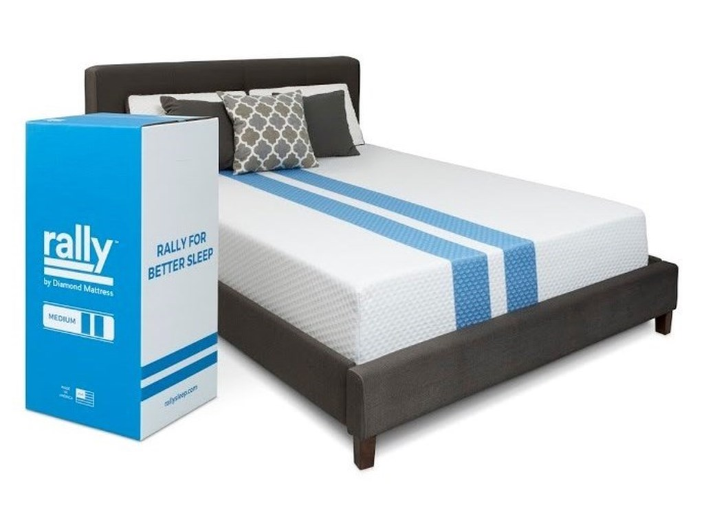 Diamond Mattress Rally Hybrid Cooling FirmFull Firm Hybrid Cooling Mattress in a Box