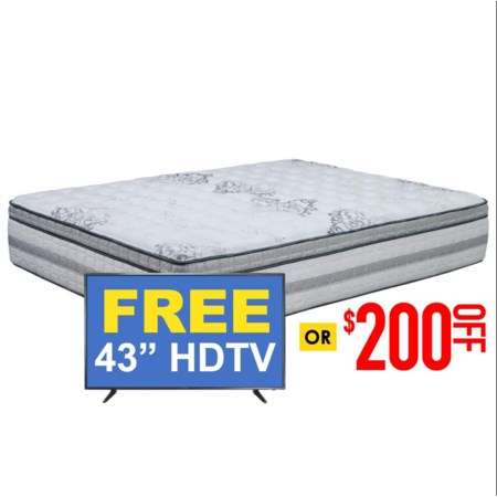 Cal King Plush Pocketed Coil Mattress