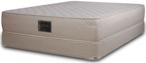 Diamond Mattress Specialty Firm Collection The Rock Full Extra Firm Mattress and Gold 8
