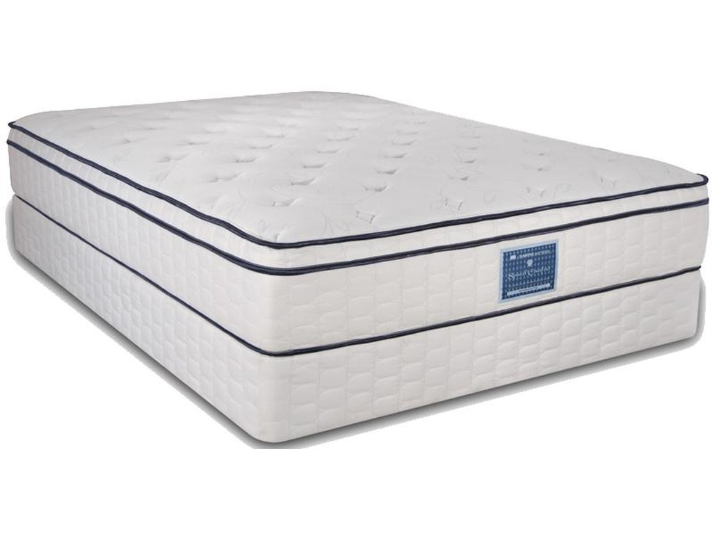 Diamond Mattress Spinal Comfort SurfsideQueen Euro Top Mattress Set