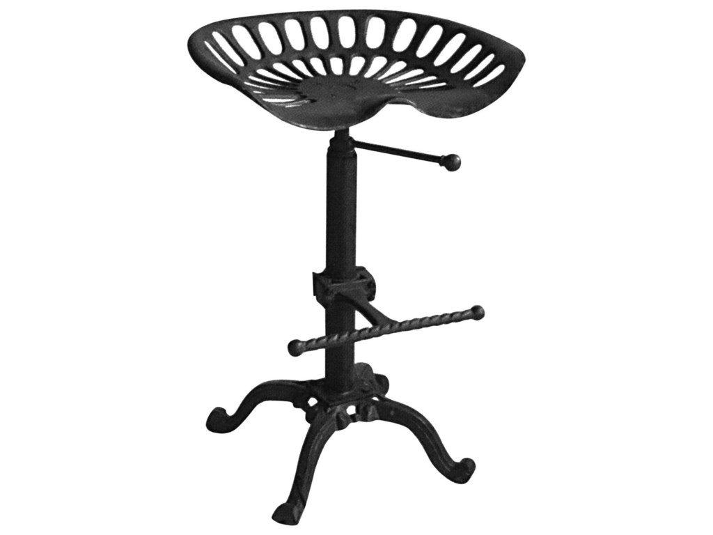 Diamond Sofa Abbott BlackAdjustable Height Dining Stool