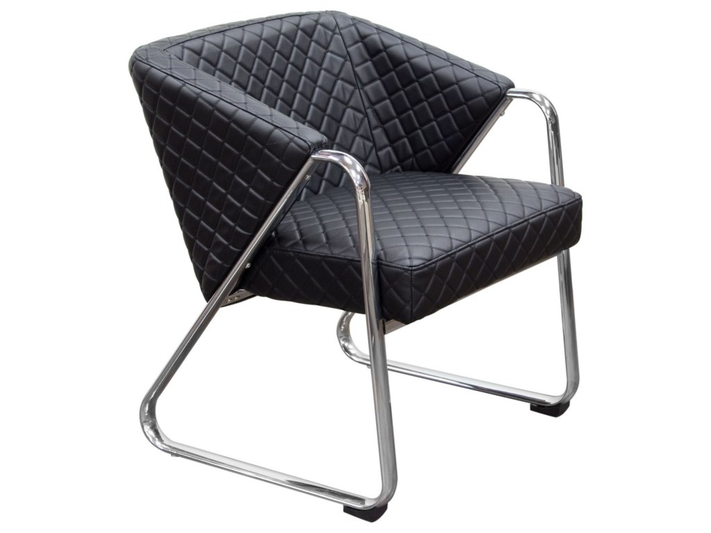 Diamond Sofa Accent ChairsAccent Chair with Diamond Tufted Quilt