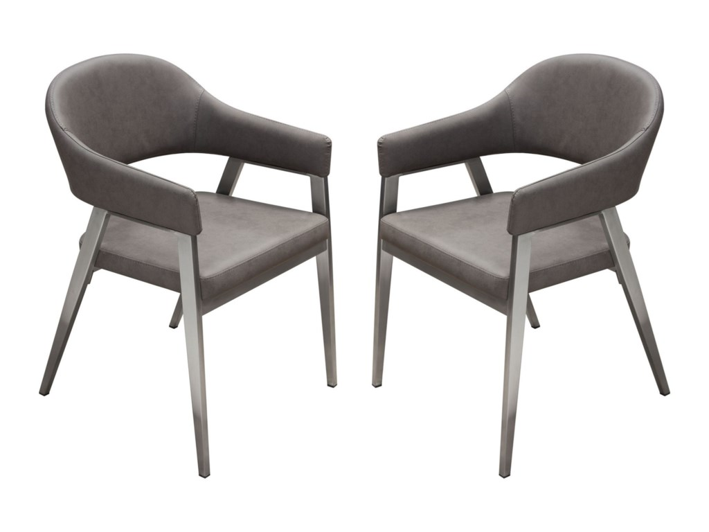 Diamond Sofa AdeleSet of Two Dining Chairs
