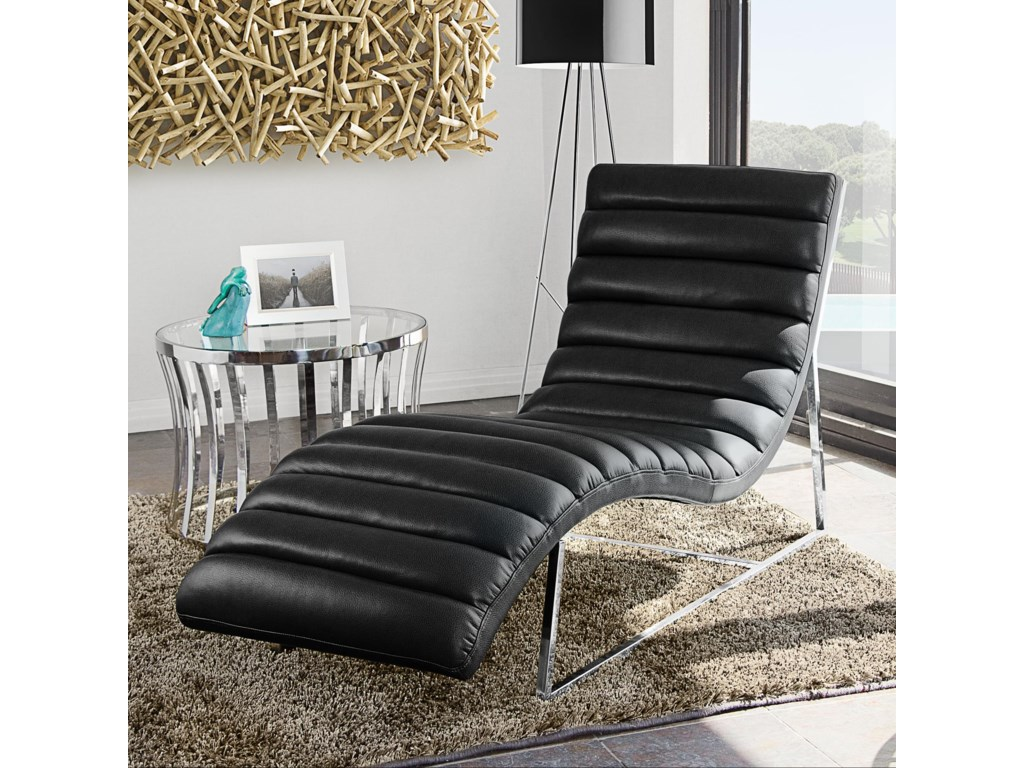 Diamond Sofa Bardot BlackChaise Lounge