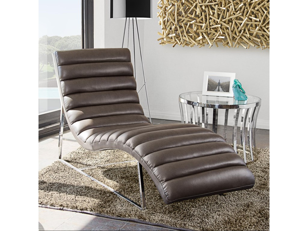 Diamond Sofa Bardot GreyChaise Lounge