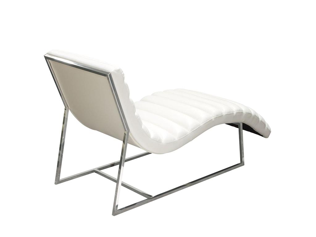 Diamond Sofa Bardot WhiteChaise Lounge