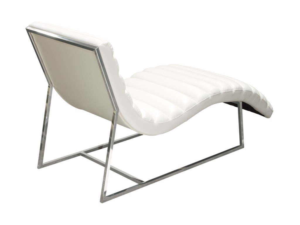 Diamond Sofa Bardot WhiteChaise Lounge