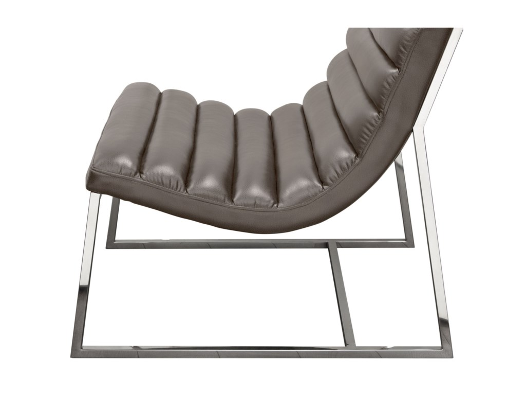 Diamond Sofa Bardot GreyLounge Chair