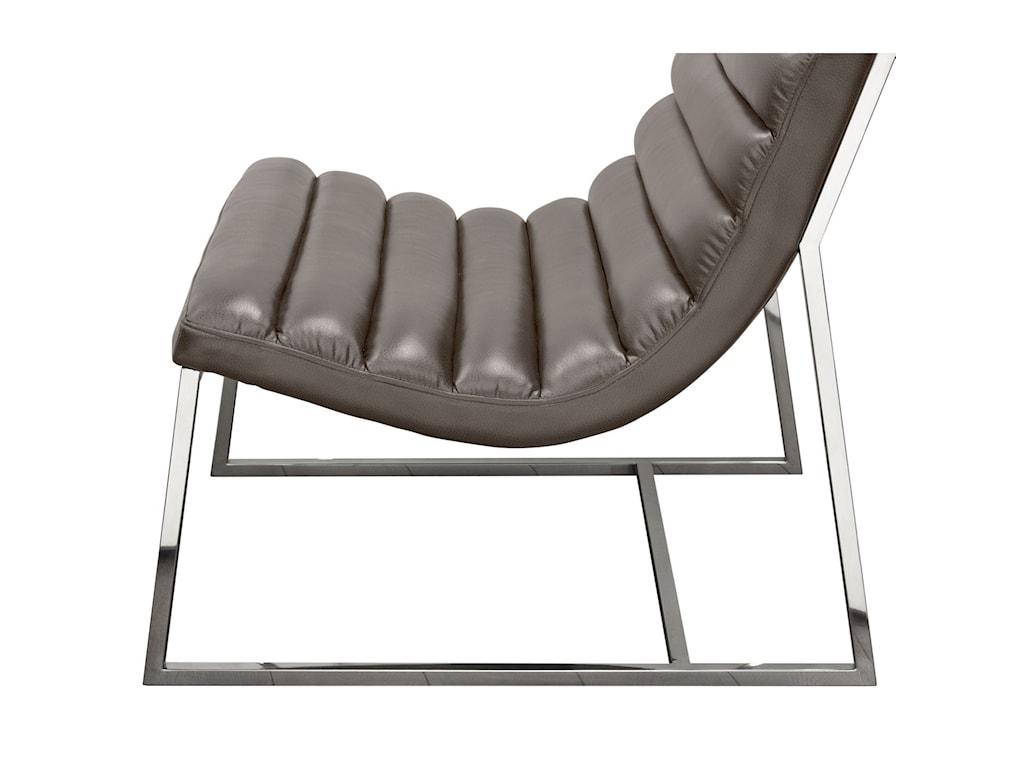 Diamond Sofa Bardot GreyLounge Chair
