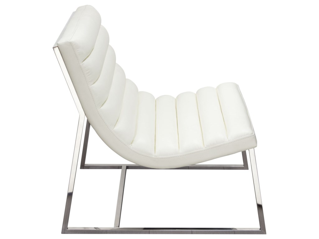 Diamond Sofa Bardot WhiteLounge Chair