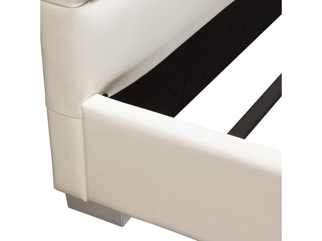 Diamond Sofa Bardot WhiteCalifornia King Bed