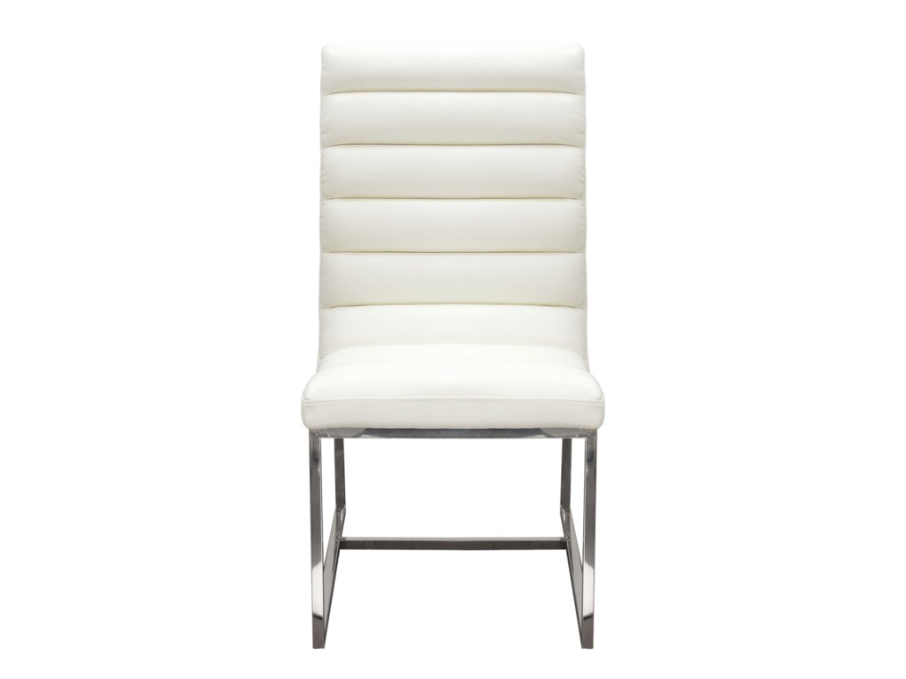 Diamond Sofa Bardot WhiteSet of Two Dining Side Chairs