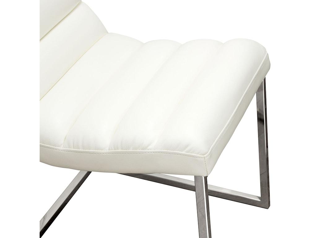 Diamond Sofa Bardot WhiteSet of Two Dining Side Chairs