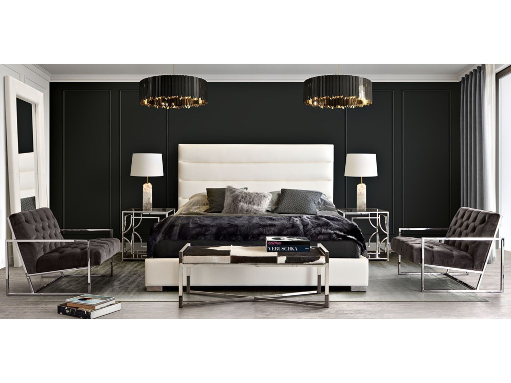 Diamond Sofa Bardot WhiteKing Bed