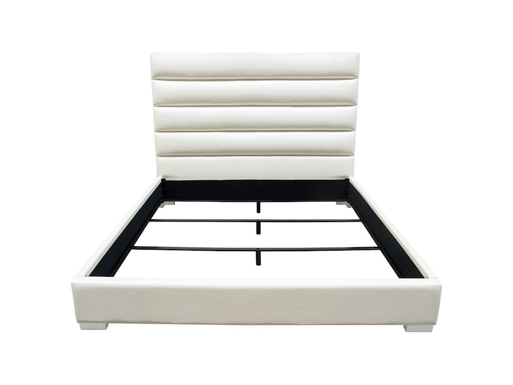 Diamond Sofa Bardot WhiteQueen Bed
