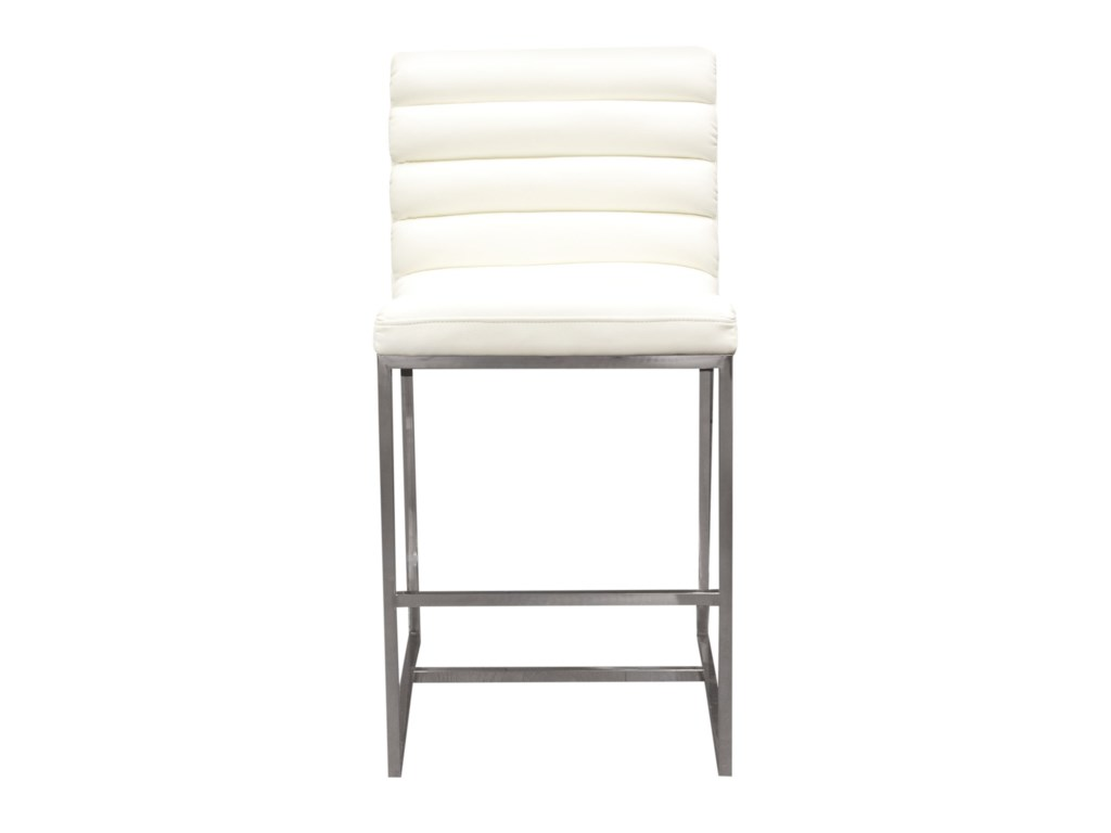 Diamond Sofa Bardot WhiteCounter Stool