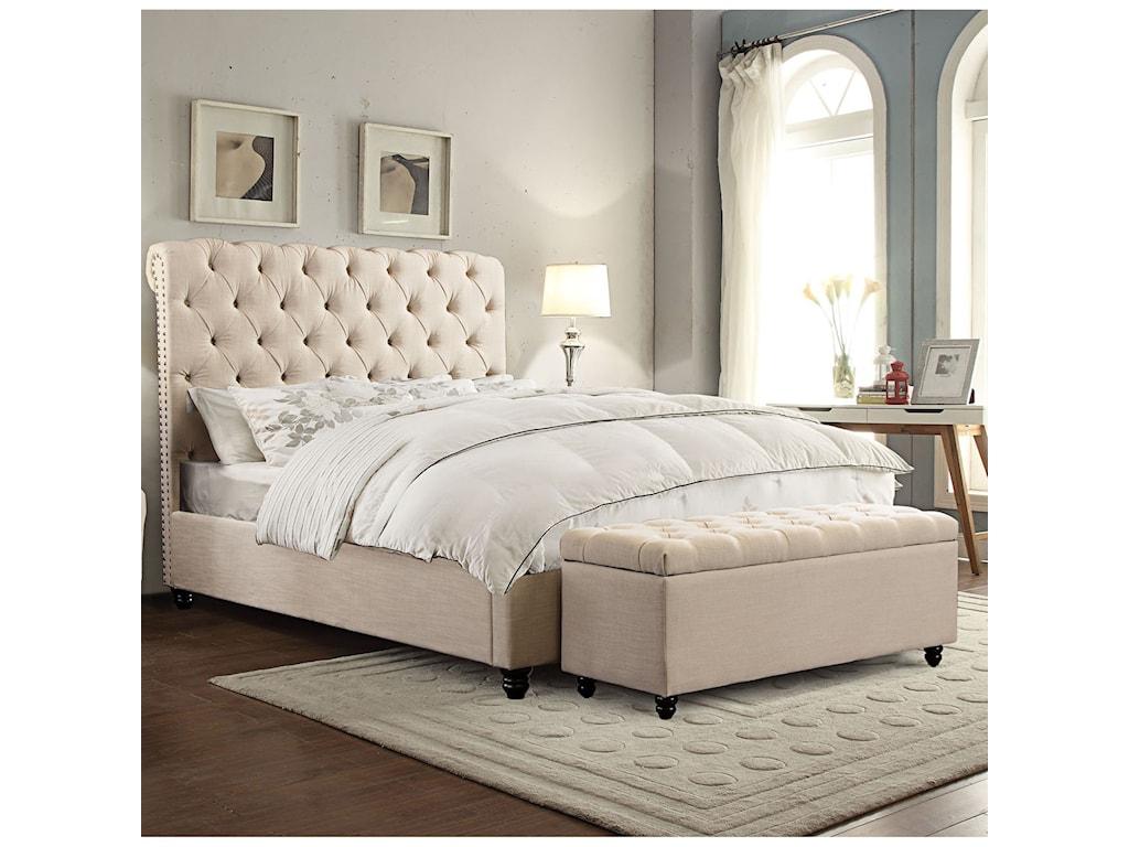 Diamond Sofa ChesterfieldKing Bed