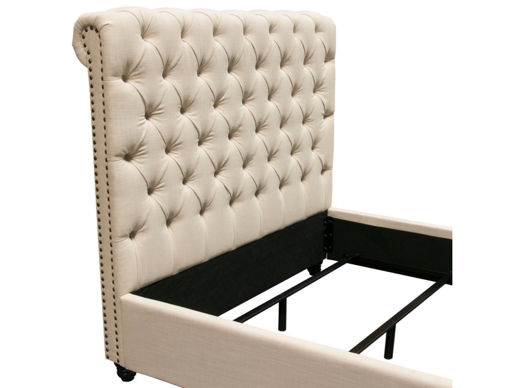 Diamond Sofa ChesterfieldQueen Bed