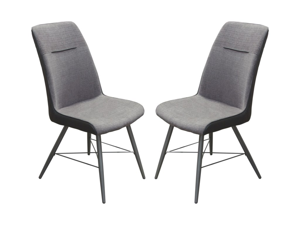 Diamond Sofa ChloeSet of Two Dining Side Chairs