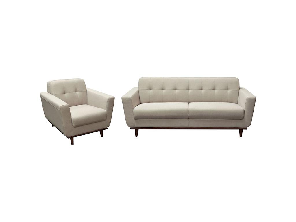 Diamond Sofa CocoSofa and Chair Package
