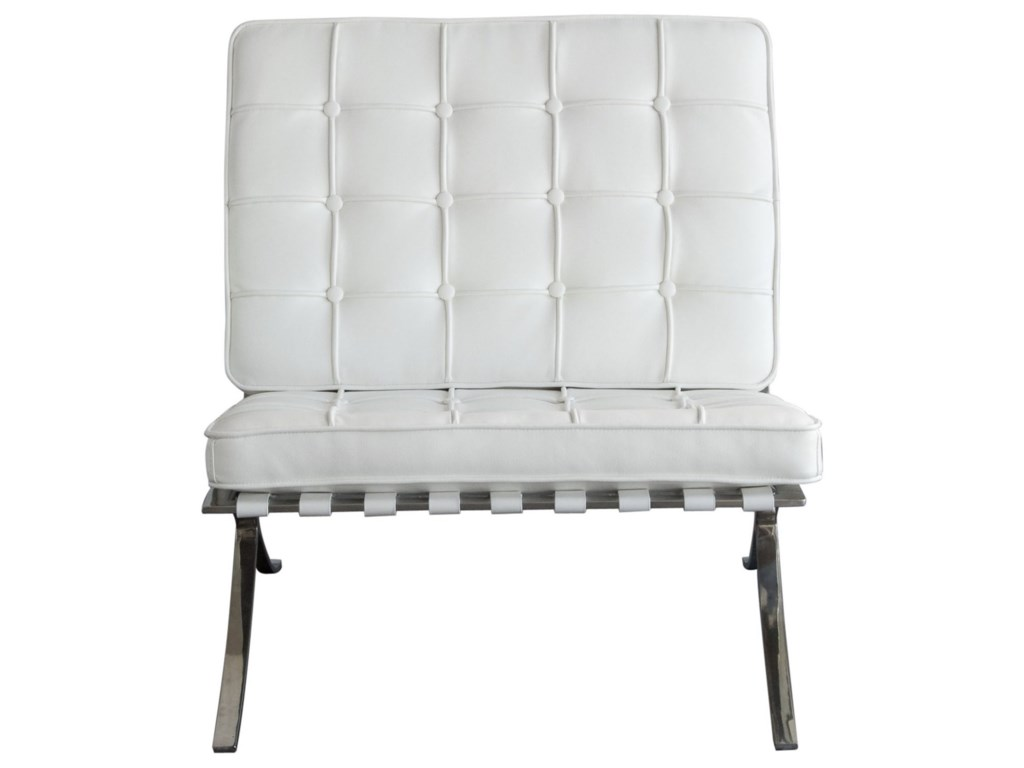 Diamond Sofa Cordoba WhiteChair