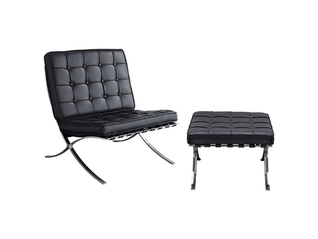 Diamond Sofa Cordoba BlackOttoman