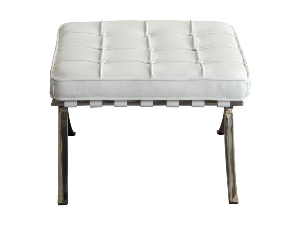 Diamond Sofa Cordoba WhiteOttoman