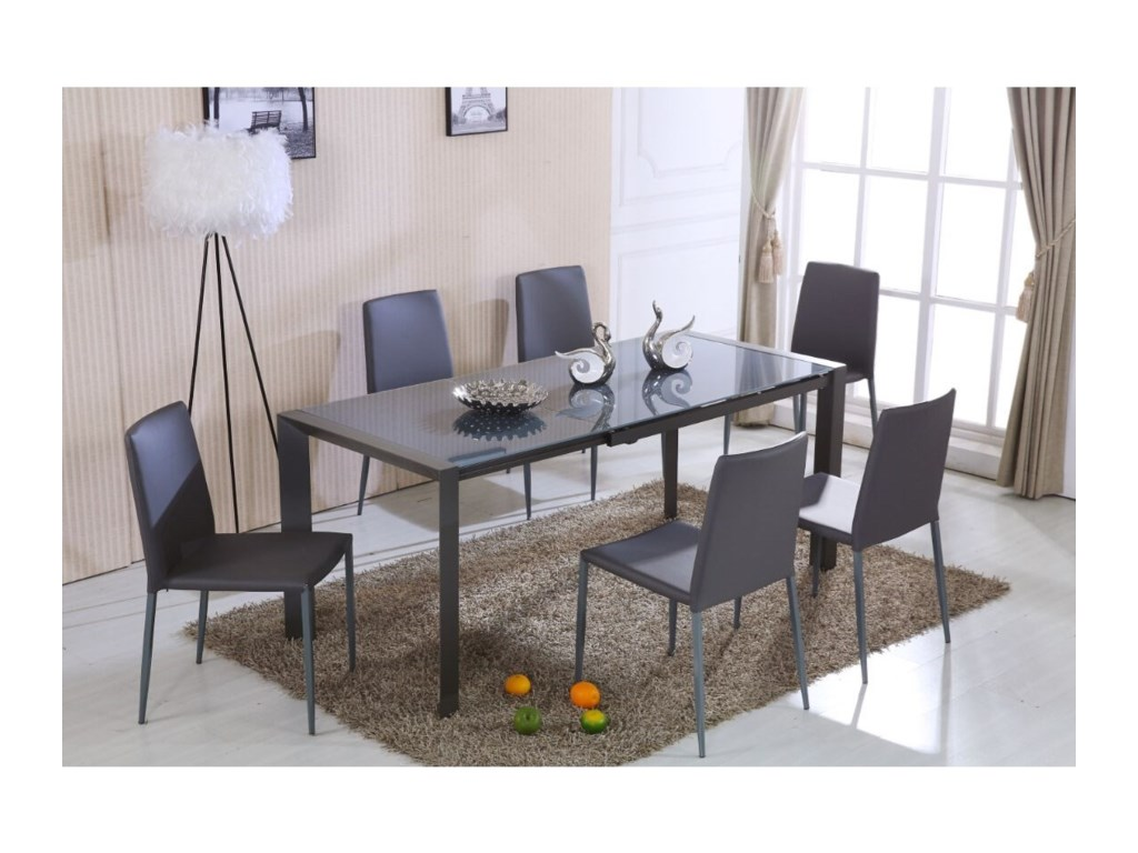 Diamond Sofa Dining Room Carbon Dining Table - Red Knot - Dining ...
