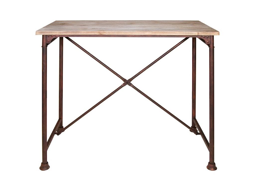 Diamond Sofa Dixon DIXONBTBL Bar Table With Wood Top And Metal Base - Diamond bar table