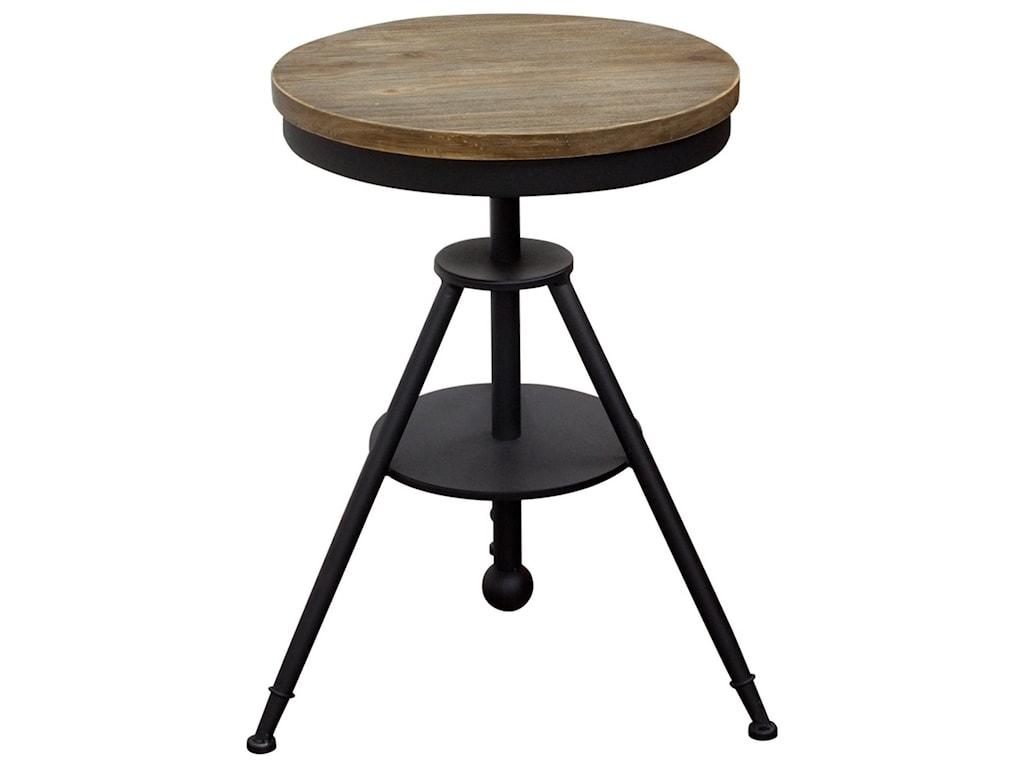 Diamond Sofa Douglas DOUGLASBTBL Vintage Adjustable Height Bistro - Adjustable height cafe table