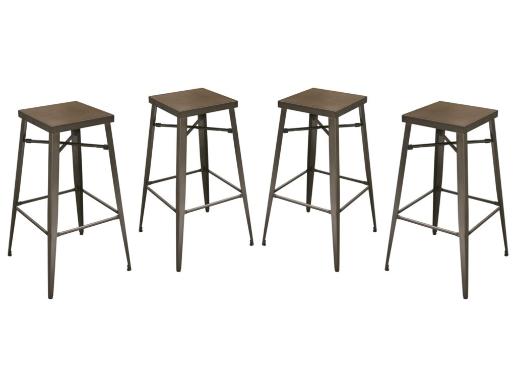 Diamond Sofa DukeSet of Four Bar Stools