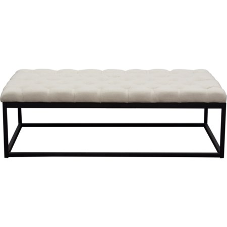 Black Powder Coat Metal Large Bench