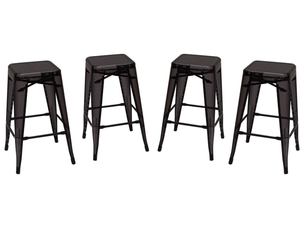 Diamond Sofa MeshSet of Four Counter Stools